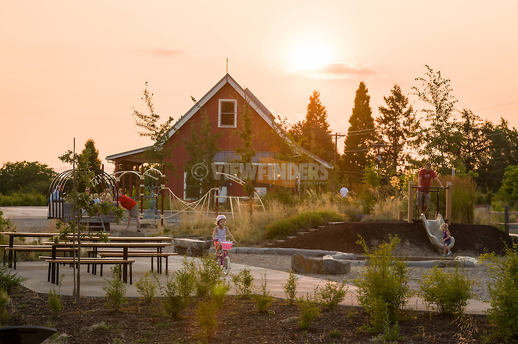 Families enjoying the play area at Cooper Mountain.