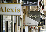 FRANCE / PARIS 25 April 2002--Paris fashion shops and boutiques on the.PHOTO: JUHA ROININEN.