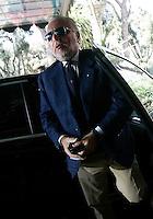 Il presidente del Napoli Aurelio De Laurentiis arriva alla riunione del Consiglio di Lega Calcio a Roma, 24 agosto 2011..UPDATE IMAGES PRESS/Riccardo De Luca