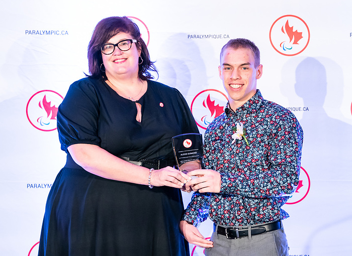 Highlights from the awards luncheon at the CPC Paralympic Summit 2018 at the Palliser Hotel in Calgary, Alberta on November 15, 2018.  Alexis Guimond takes home the best games debut by a male award.