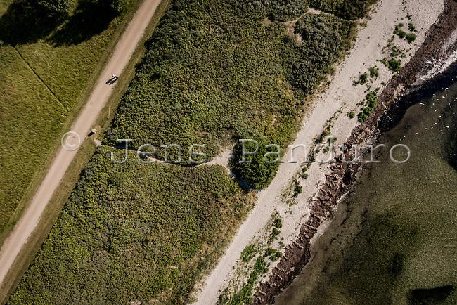 Droneflyvning ved Br&oslash;ndby Havn.<br /> <br />  Foto: Jens Panduro