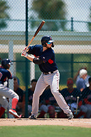 GCL Red Sox Jacob Herbert (12) bats during a Gulf Coast League game against the GCL Pirates on August 1, 2019 at Pirate City in Bradenton, Florida.  GCL Red Sox defeated the GCL Pirates 11-3.  (Mike Janes/Four Seam Images)