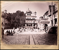 BNPS.co.uk (01202 558833)<br /> Pic: Bonhams/BNPS<br /> <br /> The Akal Bunga in Amritsar.<br /> <br /> Plain tales from the Punjab - unseen archive of Indian photographs compiled by Rudyard Kiplings father revealed.<br /> <br /> A remarkable photo album compiled by John Lockwood Kipling documenting his time in Northern India in the late 19th century has emerged for sale for &pound;150,000.<br /> <br /> Lockwood, father of the celebrated writer Rudyard, lived in India between 1865 and 1893.<br /> <br /> An acclaimed artist in his own right, he took numerous eye-catching snaps of glorious monuments and bustling street scenes around Lahore, the Punjab and Amritsar.<br /> <br /> The photos date from around 1888, when he was working at the Mayo Art school in Lahore and as curator at the Lahore Museum.<br /> <br /> At that time his son Rudyard was a little known cub reporter for the Pioneer newspaper in Allahabad ,who was just about to publish 'Plain tales from the Hills', launching his literary career.