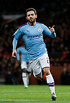 Bernardo Silva of Manchester City celebrates scoring the first goal during the Carabao Cup match at Old Trafford, Manchester. Picture date: 7th January 2020. Picture credit should read: Darren Staples/Sportimage