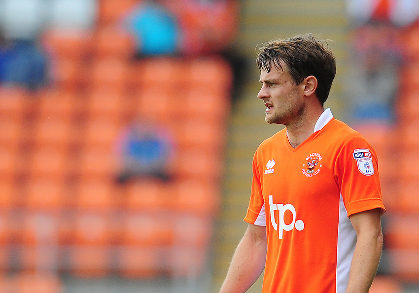 Blackpool's Andy Taylor<br /> <br /> Photographer Kevin Barnes/CameraSport<br /> <br /> Football - The EFL Sky Bet League Two - Blackpool v Exeter City - Saturday 6th August 2016 - Bloomfield Road - Blackpool<br /> <br /> World Copyright &copy; 2016 CameraSport. All rights reserved. 43 Linden Ave. Countesthorpe. Leicester. England. LE8 5PG - Tel: +44 (0) 116 277 4147 - admin@camerasport.com - www.camerasport.com