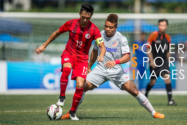 Atletico de Madrid vs HKFA U-20 during day two of the HKFC Citibank Soccer Sevens 2015 on May 30, 2015 at the Hong Kong Football Club in Hong Kong, China. Photo by Xaume Olleros / Power Sport Images