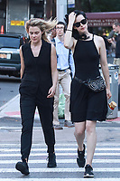 NEW YORK, NY - JULY 9: Rachael Taylor and Krysten Ritter  seen on set of 'Jessica Jones'  on July 9, 2018 in New York City. <br /> CAP/MPI/DC<br /> &copy;DC/MPI/Capital Pictures