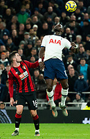 Tottenham Hotspur's Moussa Sissoko vies for possession with Bournemouth's Lewis Cook<br /> <br /> Photographer Stephanie Meek/CameraSport<br /> <br /> The Premier League - Tottenham Hotspur v Bournemouth - Saturday 30th November 2019 - Tottenham Hotspur Stadium - London<br /> <br /> World Copyright © 2019 CameraSport. All rights reserved. 43 Linden Ave. Countesthorpe. Leicester. England. LE8 5PG - Tel: +44 (0) 116 277 4147 - admin@camerasport.com - www.camerasport.com