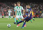 Jordi Alba in action during La Liga game between FC Barcelona v Betis at Camp Nou