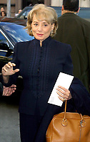 "BARBARA WALTERS 2002<br /> PREMIERE OF ""HOLLYWOOD ENDING"" AT THE CHELSEA WEST THEATRE IN NEW YORK CITY<br /> Photo By John Barrett/PHOTOlink"
