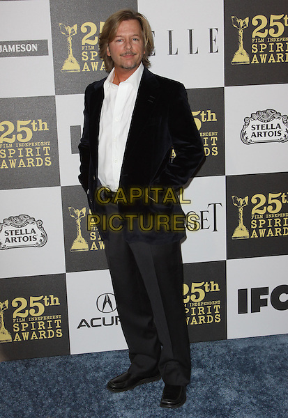 DAVID SPADE.25th Annual Film Independent Spirit Awards held At The Nokia LA Live, Los Angeles, California, USA,.March 5th, 2010 ..arrivals Indie Spirit full length black blue velvet jacket white shirt trousers grey gray .CAP/ADM/KB.©Kevan Brooks/Admedia/Capital Pictures