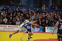 BASKETBAL: LEEUWARDEN: Kalverdijkje, 19-01-2013, Aris Leeuwarden-Leiden, Eindstand: 72-93, ©foto Martin de Jong