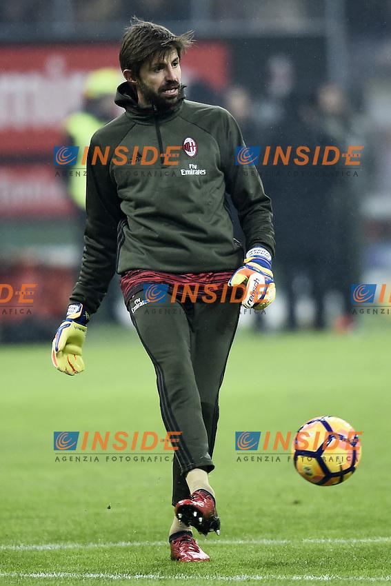 Marco Storari <br /> Milano 12-01-2017 Stadio Giuseppe Meazza - Football Calcio Coppa Italia Milan - Torino. Foto Image Sport / Insidefoto