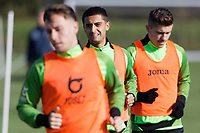 Yan Dhanda of Swansea City in action during the Swansea City Training Session at The Fairwood Training Ground in Swansea, Wales, UK. Wednesday 16 October 2019