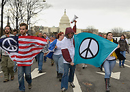 November 23, 2011  (Washington, DC)  A small group from OccupyDC marched to the U.S. Capitol.  (Photo by Don Baxter/Media Images International)
