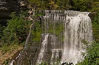 The Falling Water River drops 136' over Burgess Falls lower falls.