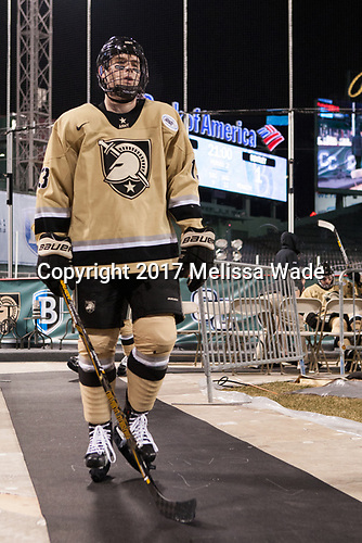 C.J. Reuschlein (Army - 13) - The Bentley University Falcons defeated the Army West Point Black Knights 3-1 (EN) on Thursday, January 5, 2017, at Fenway Park in Boston, Massachusetts.The Bentley University Falcons defeated the Army West Point Black Knights 3-1 (EN) on Thursday, January 5, 2017, at Fenway Park in Boston, Massachusetts.