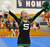 Emily Koenig and the Seaford varsity cheerleaders perform during an invitational competition held at Smithtown High School West on Saturday, Dec. 17, 2016.