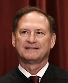Associate Justice Samuel Alito Jr. poses for a group photograph at the Supreme Court building on June 1 2017 in Washington, DC.  <br /> Credit: Olivier Douliery / Pool via CNP