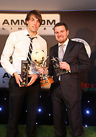 Thursday 16 May 2013<br /> Pictured: Michu (L) with Evening Post sports reporter <br /> Re: Swansea City FC footballer of the year awards dinner at the Liberty Stadium.