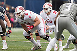 Wisconsin Badgers offensive lineman Tyler Biadasz (61) during an NCAA College Big Ten Conference football game against the Illinois Fighting Illini Saturday, October 28, 2017, in Champaign, Illinois. The Badgers won 24-10. (Photo by David Stluka)