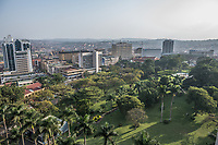 Uganda, Kampala. View from the top of the Sharaton Hotel.