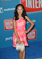 LOS ANGELES, CA. November 05, 2018: ViviAnn Yee at the world premiere of &quot;Ralph Breaks The Internet&quot; at the El Capitan Theatre.<br /> Picture: Paul Smith/Featureflash