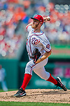 29 April 2017: Washington Nationals starting pitcher Stephen Strasburg on the mound against the New York Mets at Nationals Park in Washington, DC. The Mets defeated the Nationals 5-3 to take the second game of their 3-game weekend series. Mandatory Credit: Ed Wolfstein Photo *** RAW (NEF) Image File Available ***