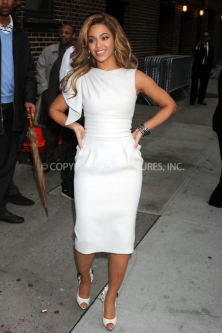 WWW.ACEPIXS.COM . . . . . ....April 22 2009, New York City....Singer and actress Beyonce Knowles made an appearance at the 'Late Show With David Letterman' at the Ed Sullivan Theater on April 22, 2009 in New York City....Please byline: KRISTIN CALLAHAN - ACEPIXS.COM.. . . . . . ..Ace Pictures, Inc:  ..tel: (212) 243 8787 or (646) 769 0430..e-mail: info@acepixs.com..web: http://www.acepixs.com
