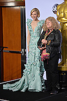 Cate Blanchett & Jenny Beavan at the 88th Academy Awards at the Dolby Theatre, Hollywood.<br /> February 28, 2016  Los Angeles, CA<br /> Picture: Paul Smith / Featureflash