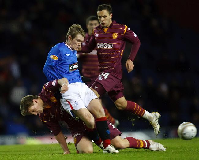 Man of the match Steven Davis gets stuck in