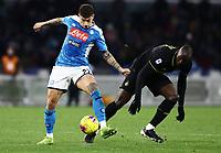 6th January 2020; Stadio San Paolo, Naples, Campania, Italy; Serie A Football, Napoli versus Inter Milan; Giovanni Di Lorenzo of Napoli challenges Romelu Lukaku of Inter