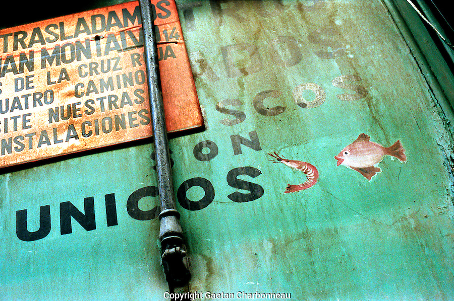 Colourful advertising in spanish language