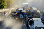 "GERMANY, Hamburg, protest rally ""WELCOME TO HELL"" against G-20 summit in july 2017, police uses water cannon and teargas against autonomous mummed protester of the so called Black Block / DEUTSCHLAND, Hamburg, Fischmarkt, Demo Welcome to Hell gegen den G20 Gipfel in Hamburg, Polizei setzt Wasserwerfer und Traenengas gegen vermummte Linksextremisten des schwarzen Block ein"