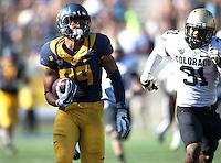27 September 2014: California Golden Bears Football vs Colorado Buffaloes at Kabam Field at California Memorial Stadium in Berkeley, California.  California defeated Colorado, 59-56 in 2 OTs.