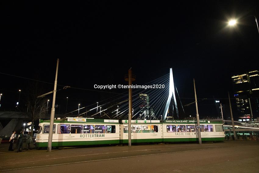 Rotterdam, The Netherlands, 7 Februari 2020, ABNAMRO World Tennis Tournament, Draw in tram in town<br /> Photo: www.tennisimages.com/Henk Koster