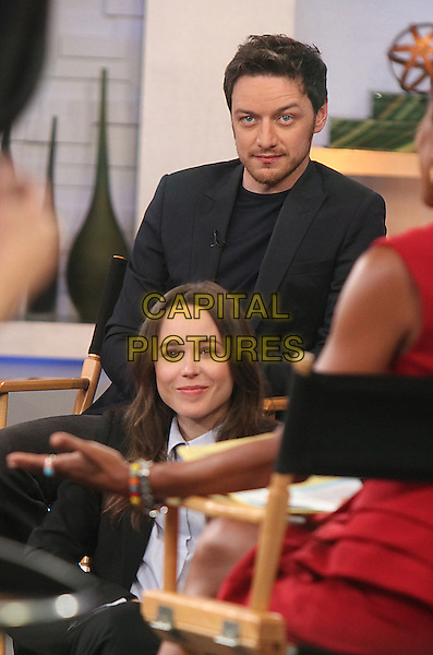 NEW YORK, NY - MAY 8: Ellen Page, James McAvoy at Good Morning America to promote X-Men Days of Future Past in New York City on May 8, 2014.  <br /> CAP/MPI/RW<br /> &copy;RW/ MediaPunch/Capital Pictures