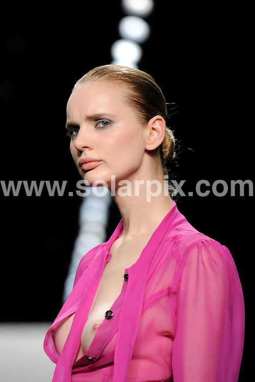 **ALL ROUND PICTURES FROM SOLARPIX.COM**.**SYNDICATION RIGHTS FOR UK AND SPAIN ONLY**.The Marcel Ostertag Autumn / Winter catwalk show at the 2009 Mercedes-Benz Fashion Week in Berlin, Germany. 30 January 2009..This pic: Marcel Ostertag catwalk show..JOB REF: 8364 CPR (Axel Schmidt/ddp)        .DATE: 30_01_2009.**MUST CREDIT SOLARPIX.COM OR DOUBLE FEE WILL BE CHARGED* *ONLINE USAGE FEE £50.00 PER PICTURE - NOTIFICATION OF USAGE TO PHOTO@SOLARPIX.COM*