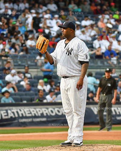 CC Sabathia (Yankees),<br /> MAY 26, 2016 - MLB : CC Sabathia of the New York Yankees during the Major League Baseball game at Yankee Stadium in the Bronx, NY, USA.<br /> (Photo by Hiroaki Yamaguchi/AFLO)