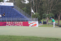 Paul Dunne (IRL) on the 18th green during Round 3 of the UBS Hong Kong Open, at Hong Kong golf club, Fanling, Hong Kong. 25/11/2017<br /> Picture: Golffile | Thos Caffrey<br /> <br /> <br /> All photo usage must carry mandatory copyright credit     (© Golffile | Thos Caffrey)