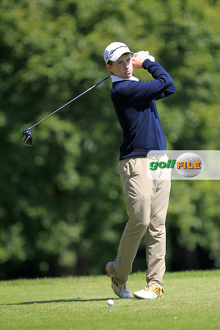 Ted Collins (Dun Laoghaire) on the 7th tee during Round 2 of the Ulster Boys' Amateur Open Championship in Clandeboye Golf Club on Wednesday 9th July 2014.<br /> Picture:  Thos Caffrey / www.golffile.ie