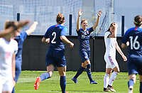 20190306 - LARNACA , CYPRUS : Slovakian Jana Vojtekova pictured celebrating her goal and the 1-0 lead during a women's soccer game between Slovakia and Hungary , on Wednesday 6 th March 2019 at the Antonis Papadopoulos stadium in Larnaca , Cyprus . This last game for both teams which decides for places 11 and 12 of the Cyprus Womens Cup 2019 , a prestigious women soccer tournament as a preparation on the Uefa Women's Euro 2021 qualification duels. PHOTO SPORTPIX.BE | DAVID CATRY