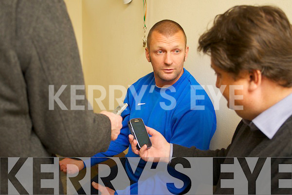 Saint Brendans Ardfert manager Pat O'Driscoll at the press day on Tursday.