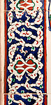 Iznik 18 - Iznik tile border in the Mausoleum of Sultan Selim II, Aya Sofya, Sultanahmet, Istanbul, Turkey