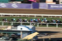 DEL MAR, CA - NOVEMBER 04: The field moves along the back stretch during the Longines Breeders' Cup Turf on Day 2 of the 2017 Breeders' Cup World Championships at Del Mar Thoroughbred Club on November 4, 2017 in Del Mar, California. (Photo by Ting Shen/Eclipse Sportswire/Breeders Cup)