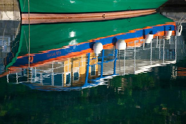 Traditional ferry  in Bol harbour, Bra? island, Croatia