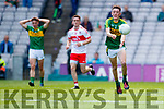 Sean O'Leary Kerry in action against  Derry in the All-Ireland Minor Footballl Final in Croke Park on Sunday.