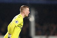 26th December 2019; Goodison Park, Liverpool, Merseyside, England; English Premier League Football, Everton versus Burnley; Everton goalkeeper Jordan Pickford  shouts instructions to his defenders - Strictly Editorial Use Only. No use with unauthorized audio, video, data, fixture lists, club/league logos or 'live' services. Online in-match use limited to 120 images, no video emulation. No use in betting, games or single club/league/player publications
