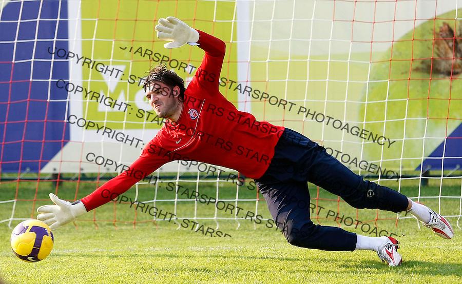 Fudbal,FK Crvena Zvezda, pripreme za sezonu 2009/2010.Goalkeeper Sasa Radivojevic.Ivanjica, 06.07.2009..foto: Srdjan Stevanovic/Starsportphoto.com