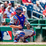 1 August 2018: New York Mets catcher Devin Mesoraco in action against the Washington Nationals at Nationals Park in Washington, DC. The Nationals defeated the Mets 5-3 to sweep the 2-game weekday series. Mandatory Credit: Ed Wolfstein Photo *** RAW (NEF) Image File Available ***